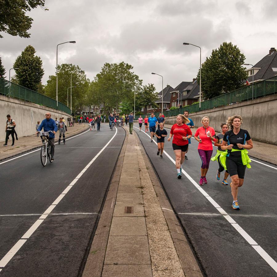 De Fun Run op de Zuidelijke Rondweg in Breda.