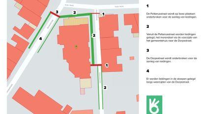 Maand lang werken rond Overpelts gemeentehuis