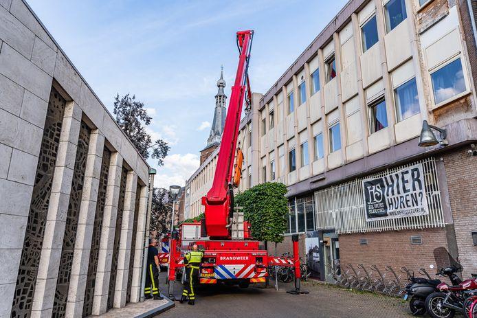 Brand in appartementencomplex in Tilburg
