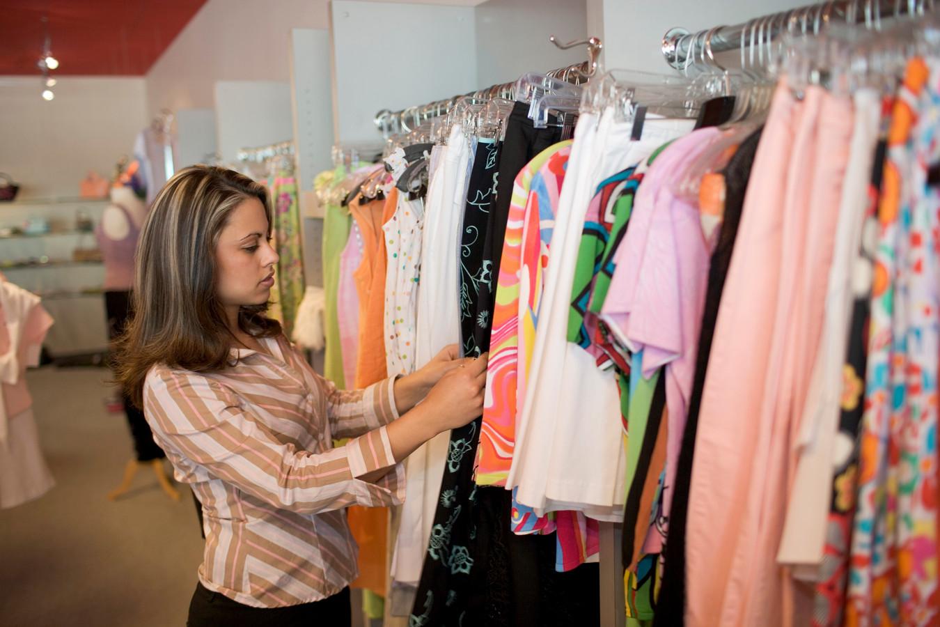 Kledingzaak winkel kleding