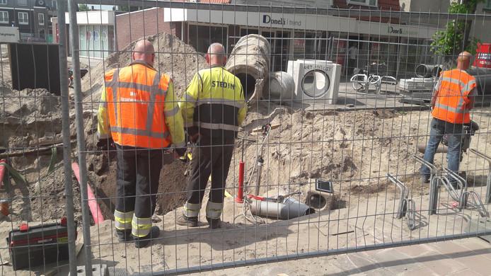 Stedin dicht het gaslek in Bilthoven.