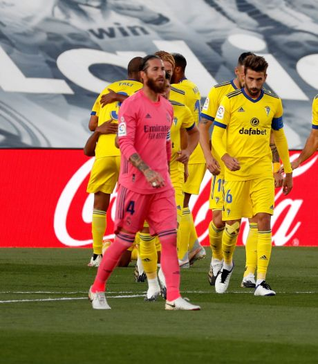 Blamage koploper Real Madrid tegen Cadiz: 'Een heel slechte avond voor ons'