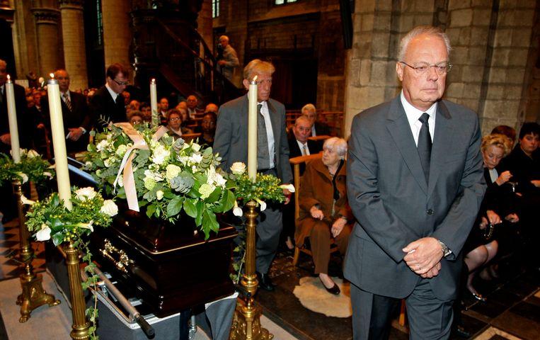Roger en neef Philippe Collin bij de uitvaart van vader Constant.