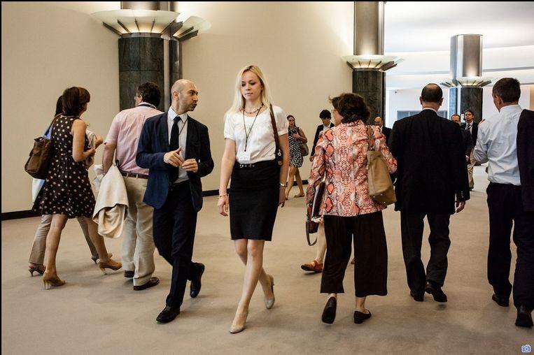 In de wandelgangen van het Europees Parlement. Beeld RV