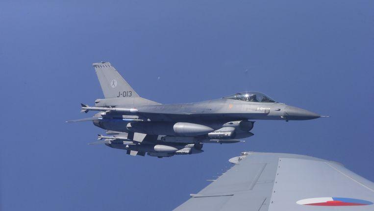 Een Nederlandse F16. Beeld anp