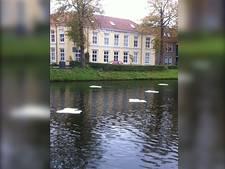 Kunstwerk in Herengracht Middelburg