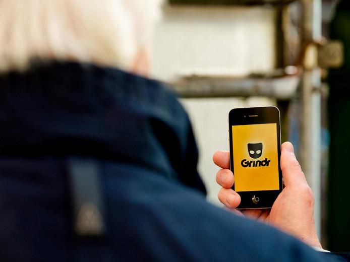 Grindr, de applicatie voor de smartphone bedoeld om homoseksuele mannen met elkaar in contact te brengen.
