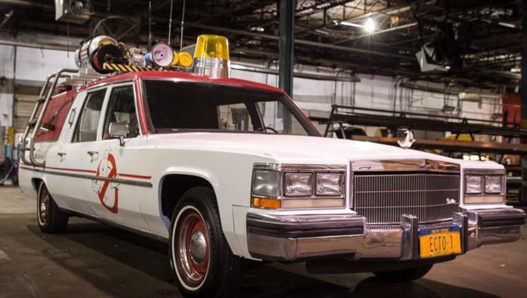 De auto in de nieuwe Ghostbusters-film. Beeld null