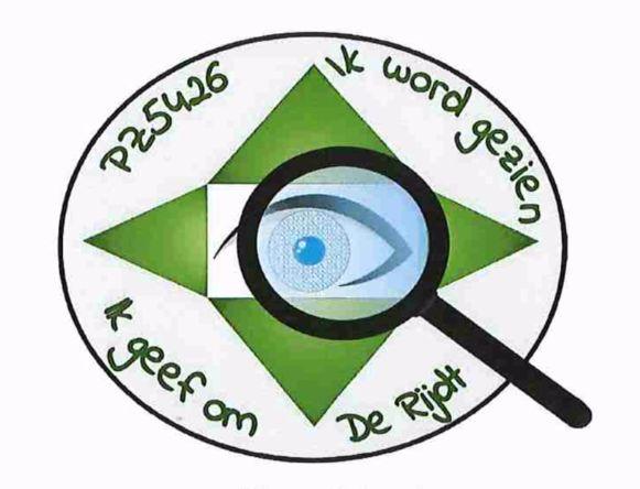 Wie zich engageert om mee een oogje in het zeil te houden, zal een insigne dragen met dit embleem op.