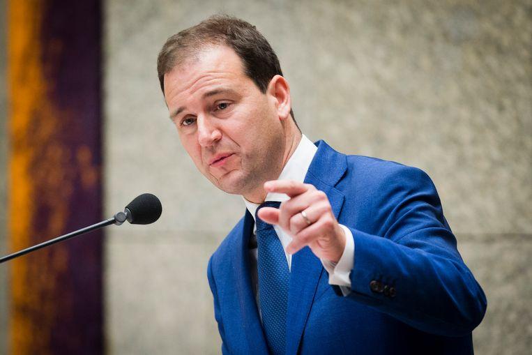 Lodewijk Asscher (PvdA) tijdens een plenair debat in de Tweede Kamer over de regeringsverklaring.  Beeld Hollandse Hoogte /  ANP