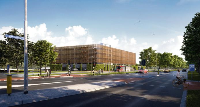 Een ontwerp van de Park & Ride die volgend jaar verrijst aan de Aalsterweg.