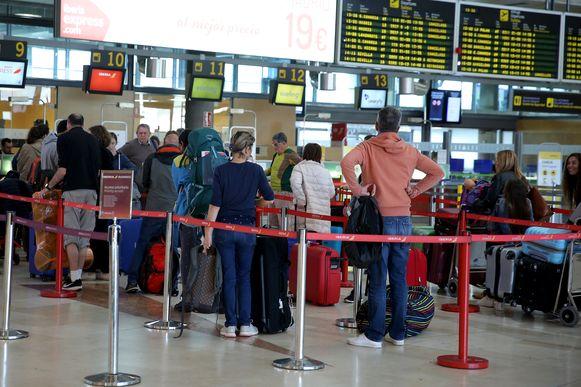 Reizigers op de La Laguna-luchthaven in Tenerife, ter illustratie.