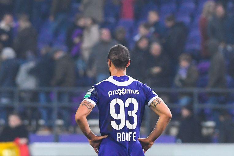 Kemar Roofe en Anderlecht blijven ontgoocheld achter.