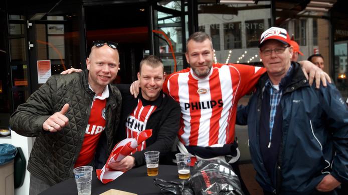 Edwin Wever (vlnr), Michel Meekes, Mark Frenken en Rudie Meekes uit Winterswijk.