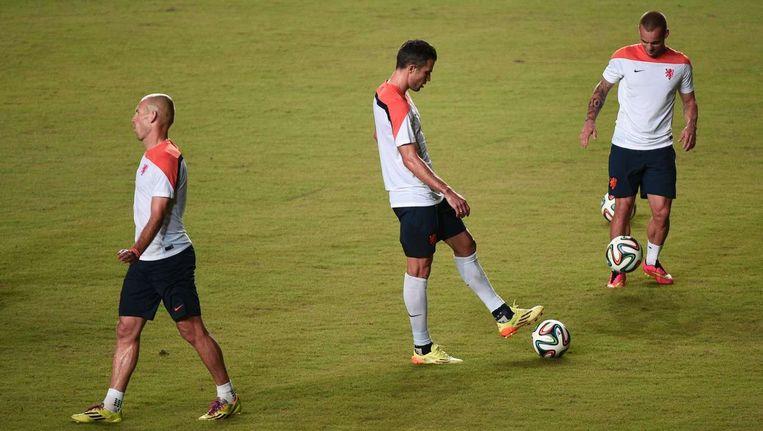 Robben, Van Persie en Sneijder. Beeld anp