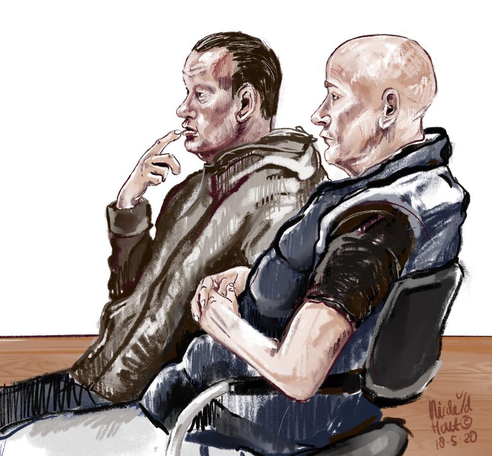 Verdachten Polle B. uit Zuid-Holland (links) en Charles B. uit Zeewolde (rechts) waren eigenaren van het transportbedrijf dat volgens justitie een drugslijn naar Portugal wilde opstarten.