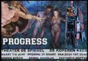 Drie Zwolse kunstenaars exposeren met 'Progress and what we do with (that shh)it' in theater De Spiegel en restaurant Koperen Kees in Zwolle.