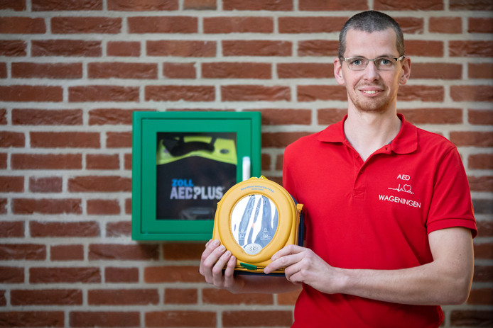 Sander Voogsgeerd van stichting AED Wageningen.