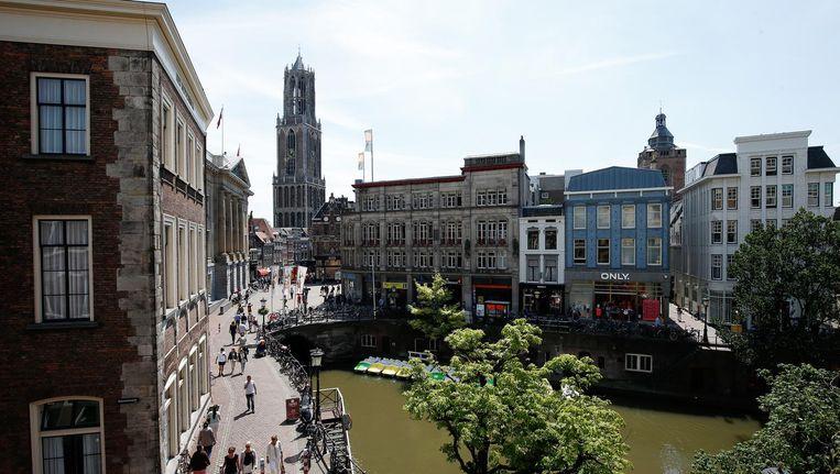 Uitzicht op de Stadhuisbrug in het centrum van Utrecht. Beeld anp