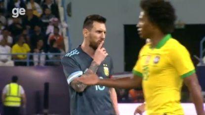 Mondje dicht: Messi zegt Braziliaanse bondscoach even wat hij ervan denkt