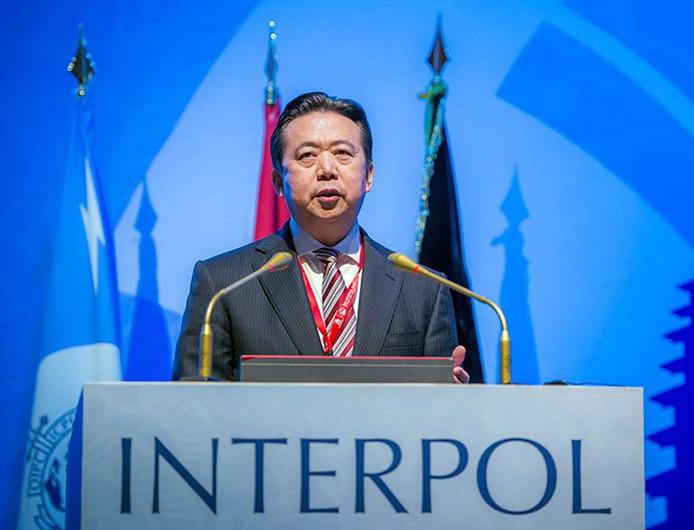 Hongwei Meng,  de Chinese voorzitter van Interpol.
