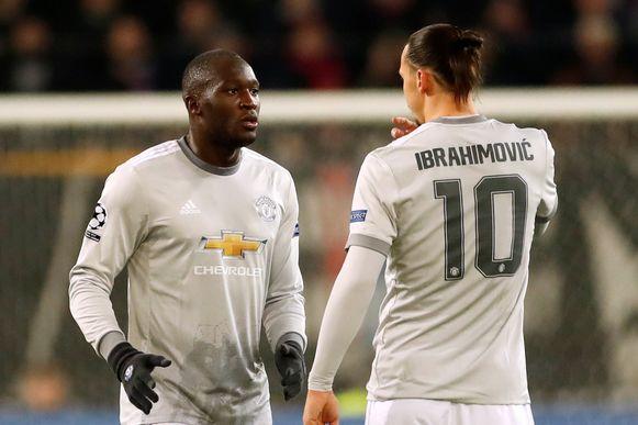 Lukaku en Ibrahimovic deelden nog acht maanden de kleedkamer bij Man. United.