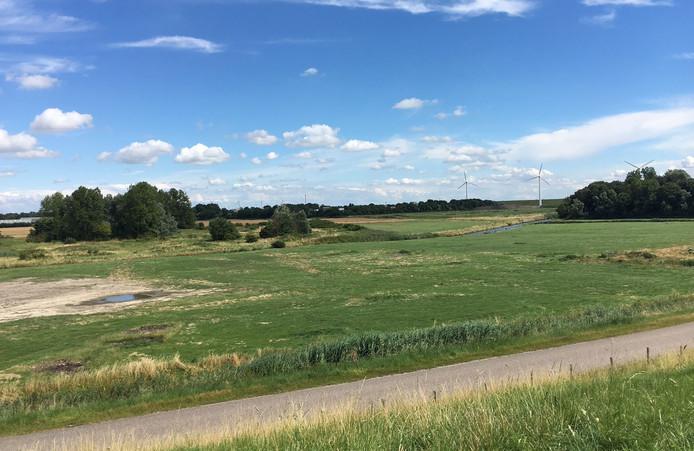 Het terrein bij Ritthem waar de nieuwe marinierskazerne moet komen.
