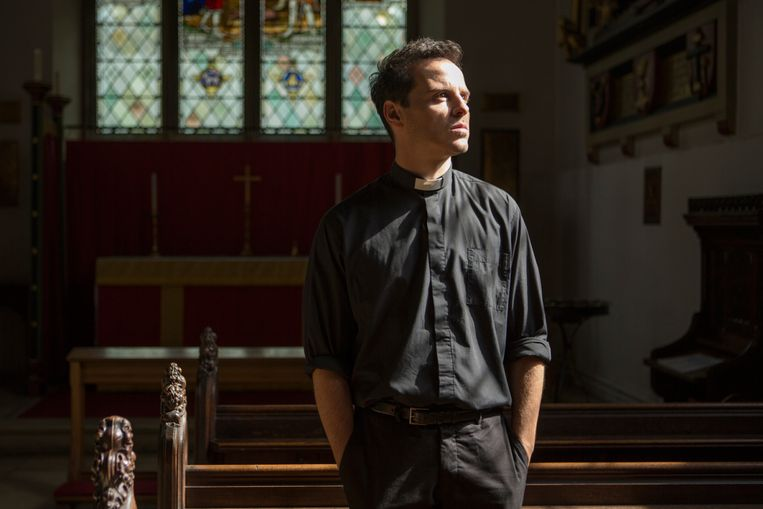 Acteur Andrew Scott werd tot zijn eigen verbazing een sekssymbool door zijn rol als 'hot priest' in 'Fleabag'.  Beeld