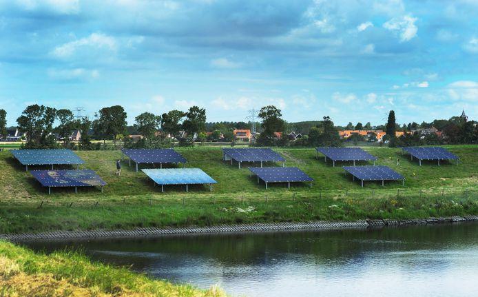 Het waterschap doet dichter bij het dorp Ritthem wel een proef met zonnepanelen op de dijk, maar aan de Krukweg is momenteel geen extra zonnepark nodig, oordelen b en W van Vissingen.