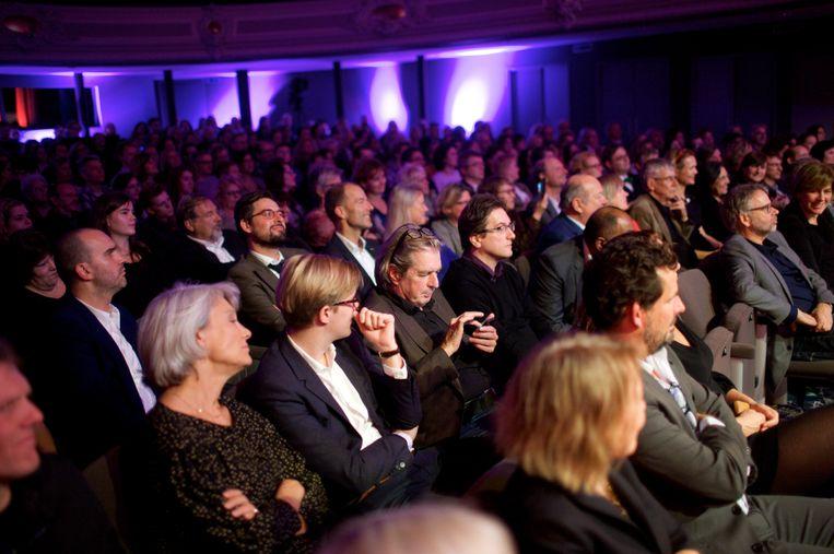 Publiek tijdens de uitreiking van de ECI Literatuurprijs. Beeld Boudewijn Bollmann