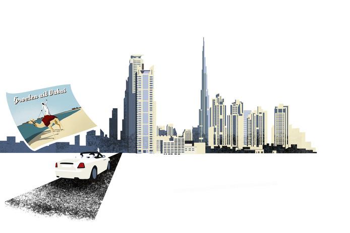 Roger Lips woont al jaren - onbereikbaar voor curatoren - in Dubai.