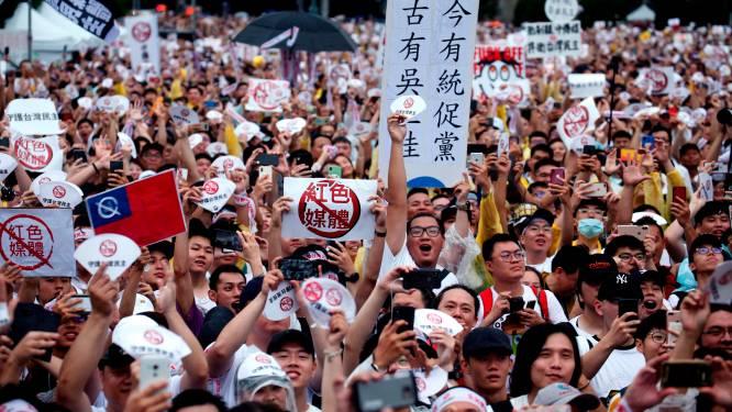 Tienduizenden in Taiwan op straat tegen pro-Chinese media