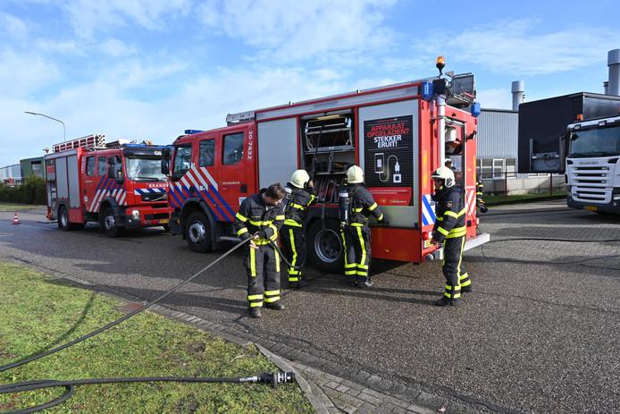 Brandweer bij de brand in Rijen