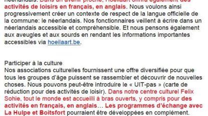 Pro Hoeilaart pleit voor meertalig cultuuraanbod (en ophef blijft niet uit)