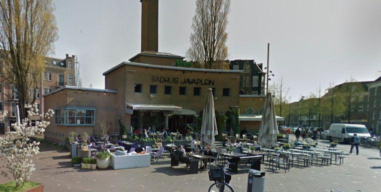 Het badhuis op het Javaplein in Oost. Beeld Google Streetview