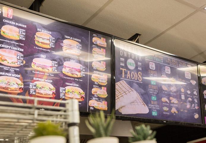 Au menu, tacos, sandwiches et burgers.