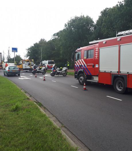 Motorrijder onderuit bij ongeval op IJpenbroekweg