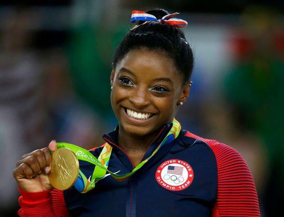 De Amerikaanse Simone Biles was absoluut een van de smaakmakers van de Olympische Spelen in Rio (2016). Ze haalde liefst vier keer goud.