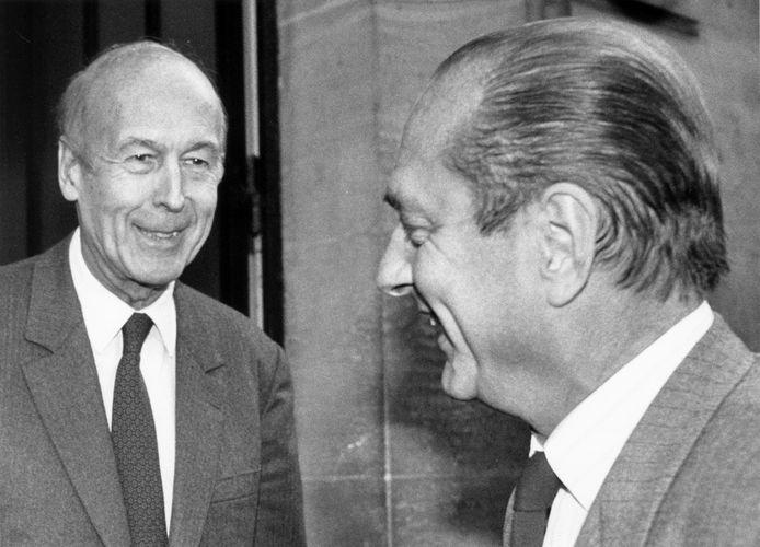 Avec Jacques Chirac en 1988.