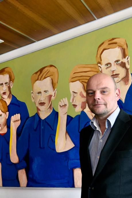 Wethouder Elfrink op bezoek bij Van der Knaap in 'gelukkig' Ede