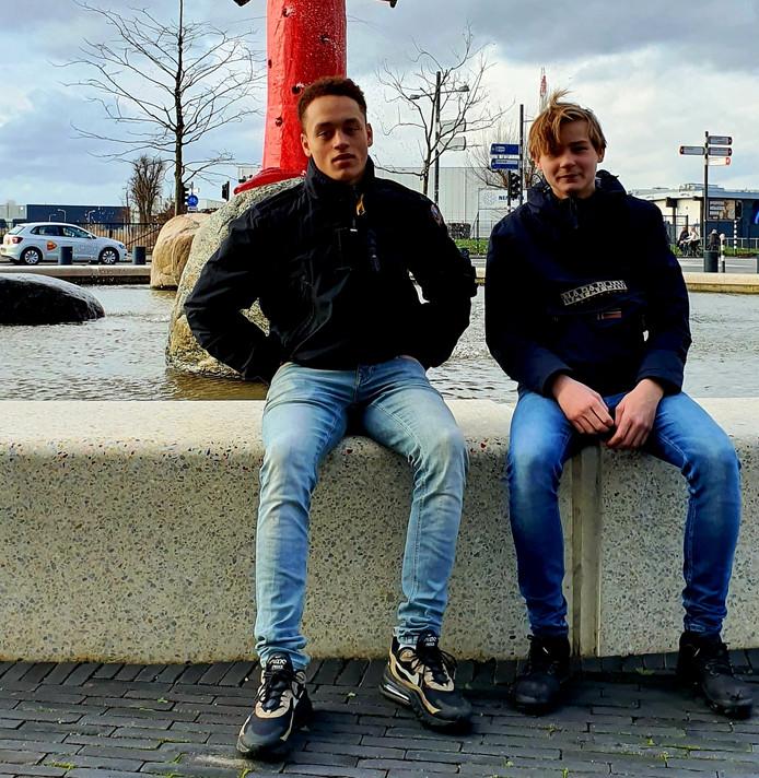 Kees Jan van Boxel (l) en Jop van Meenen hoeven geen boete te betalen.