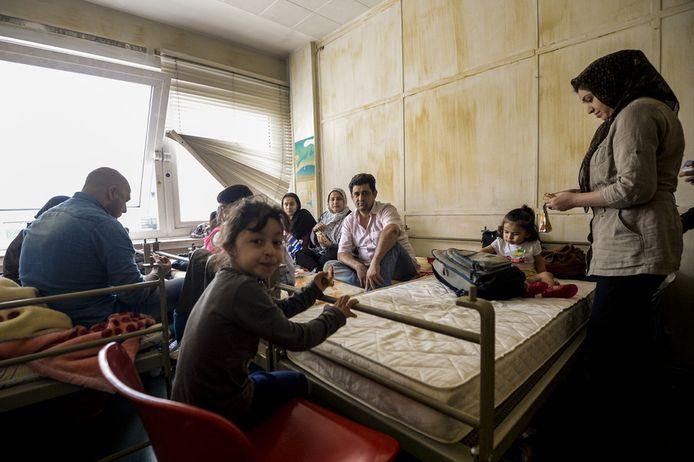 Afghanen zonder papieren in Brussel.