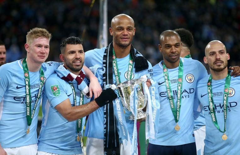 De Bruyne, Agüero, Kompany, Fernandinho en Silva.