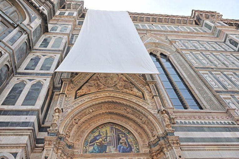 'Porta della Mandorla'om Florence. Beeld null