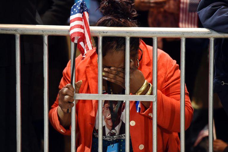 Clinton-supporters zijn in de rouw Beeld afp