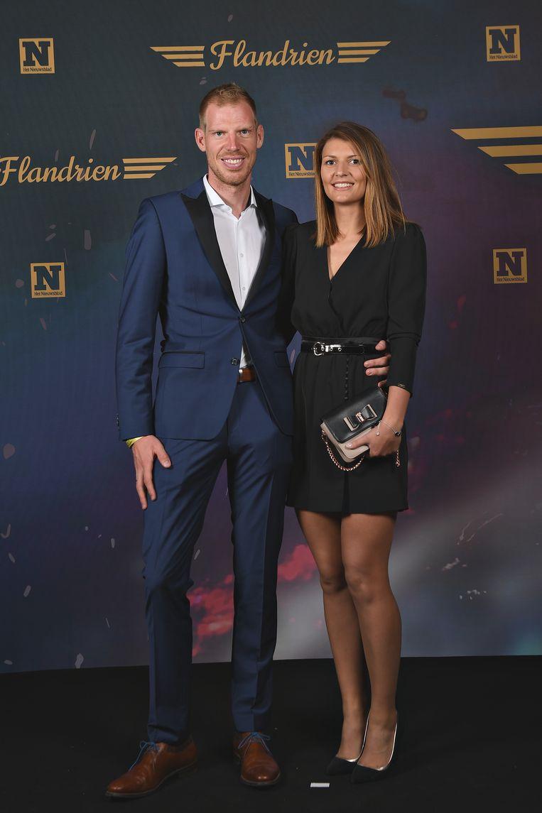 Tim Declercq en zijn kersverse echtgenote Tracey Debruyne.