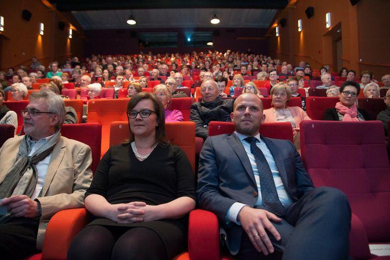 Theo Francken in een volle zaal Nova.