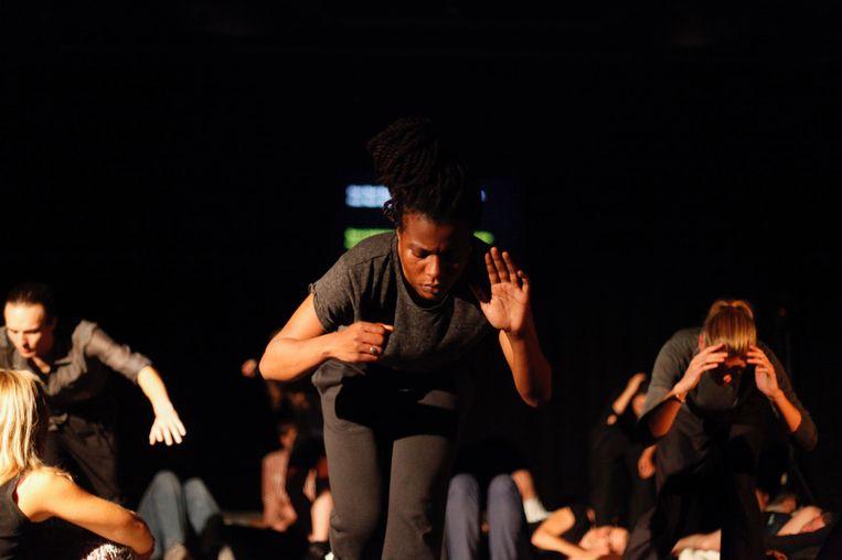 Het choreografische hoorspel Human Landscapes van Michiel Vandevelde.  Beeld Liz Eve / Steirischer Herbst