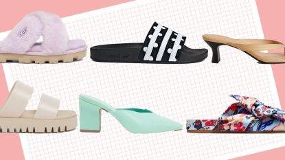 Badslippers 2.0: deze zomer dragen we kleurrijke exemplaren en 'thong slippers'