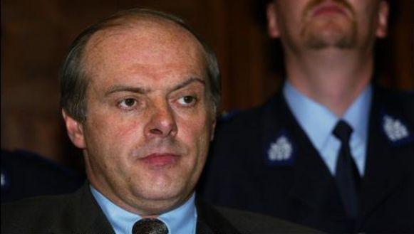 Alex Vercauteren op de beschuldigdenbank tijden het proces Van Noppen.